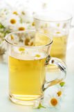 Cup of herbal tea with camomile flowers Royalty Free Stock Photo