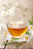Cup of herbal tea with chamomile flowers Royalty Free Stock Image