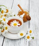 Cup of herbal tea with chamomile flowers Royalty Free Stock Photo