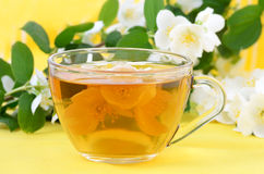 Cup of herbal tea Royalty Free Stock Photos
