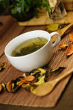 Cup of herbs Royalty Free Stock Photography