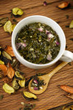 Cup of herbs Royalty Free Stock Image