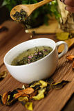 Cup of herbs Royalty Free Stock Images