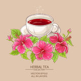Cup of hibiscus tea Royalty Free Stock Photos