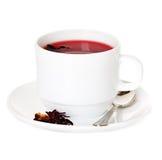 Cup of hibiscus tea Stock Photo