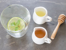 Cup of honey lime healthy drink Stock Photo