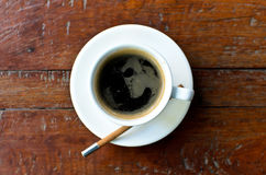 A cup hot americano Royalty Free Stock Image