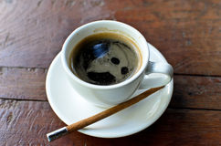 A cup hot americano Royalty Free Stock Images