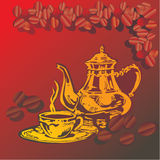 Cup of hot arabian coffee Royalty Free Stock Photography