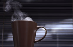 Cup with hot beverage Royalty Free Stock Image