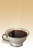 Cup of hot, black coffee Royalty Free Stock Photos