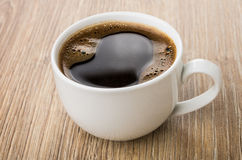 Cup of hot black coffee on table Royalty Free Stock Photo