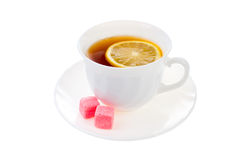 Cup of hot black tea Royalty Free Stock Images
