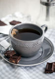 Cup of hot black tea Royalty Free Stock Image