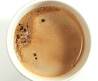 Cup of hot chocolate. White background stock images