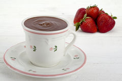 Cup of hot chocolate Stock Image