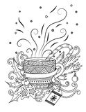 Cup with hot chocolate royalty free illustration