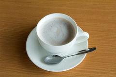 A cup of hot chocolate with cream Stock Photo