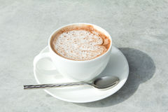 A cup of hot chocolate with cream Royalty Free Stock Photography
