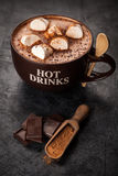 Cup of hot chocolate Royalty Free Stock Images