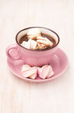 Cup of hot chocolate with marshmallows Stock Photography