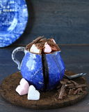 A cup of hot chocolate with mini marshmallows Stock Image