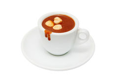 A cup of hot chocolate with nuts. Stock Images