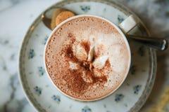 Cup of hot chocolate Stock Photos