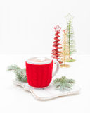 Cup of Hot Chocolate Portrait Royalty Free Stock Image