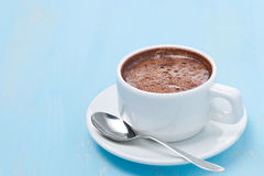 Cup of hot chocolate and space for text Royalty Free Stock Images