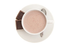Cup of Hot Chocolate with a Spoon Royalty Free Stock Images