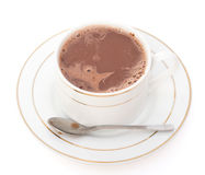 cup of hot chocolate with spoon, clipping path included Stock Photo