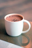 Cup of hot chocolate on the table Royalty Free Stock Photography