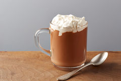 Cup of hot chocolate with whipped cream Royalty Free Stock Photos