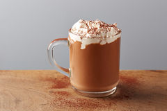 Cup of hot chocolate with whipped cream Royalty Free Stock Photography