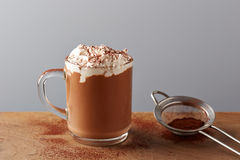 Cup of hot chocolate with whipped cream Royalty Free Stock Image