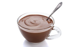 Cup of hot chocolate on a white background Stock Photo