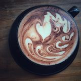 A cup of hot chocolate Stock Photography