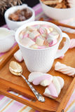 Cup of hot cocoa with marshmallows Stock Photo