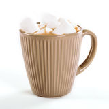 Cup of hot cocoa with marshmallows Royalty Free Stock Image