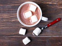 Cup of hot cocoa with marshmallows Royalty Free Stock Photos
