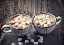 Cup of hot cocoa stock photography