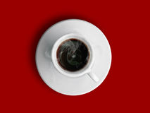 Cup of hot coffe Royalty Free Stock Photos