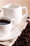 Cup of hot coffe Stock Photos