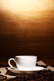 Cup of hot coffe Royalty Free Stock Images