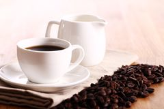 Cup of hot coffe Royalty Free Stock Photography