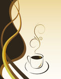 A cup of hot coffee Royalty Free Stock Photo