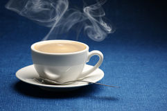 Cup of hot coffee Royalty Free Stock Photography