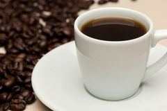A cup of hot coffee Stock Photography