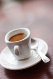 A cup of hot coffee Royalty Free Stock Photos
